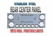 Rear Center Panel Stainless Steel with Dual Function (40 LED) LIGHTS Semi Truck