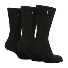 3 Pairs Mens Jeep Wool Blend Ribbed Walking Socks Size 6-11 Uk - Black/Grey JE2