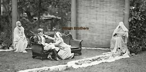 1900s Dancer Ruth St Denis Dances Outdoor Theatre Glass Photo Camera Negative #3