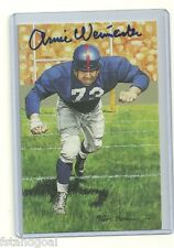 ARNIE WEINMEISTER AUTOGRAPHED SIGNED SERIES 5 GOAL LINE ART NEW YORK GIANTS HOF