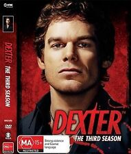 Dexter The Third Season 3 Disc Set Digipak Missing Disc 1 Region 4 DVD VGC
