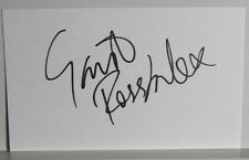 AUTOGRAPHED INDEX CARD >ENGLISH MUSICIAN / ACTOR>>GAVIN ROSSDALE