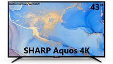 """TELEVISORE TV 43"""" SHARP Aquos 4K SMART Net+ HARMAN KARDON DVB-T2/S2 43BJ5E"""
