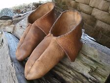 MOOSE HIDE MOCCASINS/ LONGHUNTER/ FUR TRADE/ MOUNTAIN MAN !!!!! LQQK !!!!!