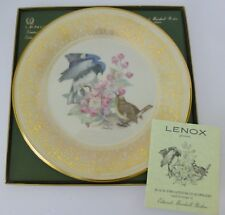 Lenox Boehm Bird Plate Black Throated Blue Warbler Limited edition 1980 Mint