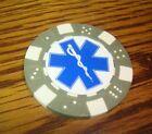 EMS Star of Life Caduceus Medical design Poker Chip Golf Ball Marker,Card Guard