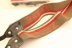 Zenit Original Shoulder Camera Strap KMZ Brown and Red Vintage