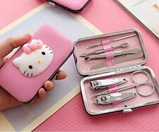 Hello Kitty Nail Clipper Set Stainless Manicure Kit Case 60-3
