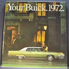 1972 Buick Large 11x12 Brochure GS Skylark Riviera LeSabre Electra 225 Centurion