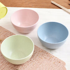 EE_ 1 x Solid Color Wheat Straw Children Rice Noodle Salad Bowl Household Tablew