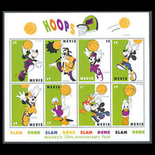 Nevis, Sc #1118, MNH, 1998, Mickey, Basketball, Disney, S/S, A5TID-B