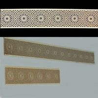 2m Holzornament Bordüre Melilla - Wandtattoo Dekorpaneele Innendekor Ornament