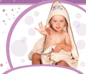 BabyBow Bathing Set Hooded Towel 80x80cm+Badehandschuh 15x20cm+ Bath 30x30cm