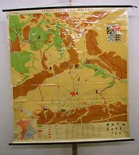 Schulwandkarte map Bayern Bavaria bayrisch Alpen Franken München 163x181cm 1963