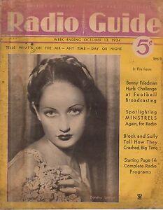 1934 Radio Guide-October 13  Stage Minstrel shows;Kavela Killers;Sigmund Romberg