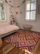 Armadillo & Co Latitude Kilim Weave 2 x 3m pure wool rug - Peony