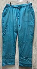 Ua Scrubs Turquoise Blue Size Large Scrub Pants Elastic With Drawstring