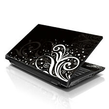 "17.3"" 18"" 19"" Laptop Notebook Skin Sticker Protective Decal Black & White Floral"
