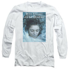 Twin Peaks TV Show WHO KILLED LAURA PALMER? Adult Long Sleeve T-Shirt S-3XL