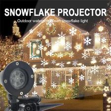 Schneeflocke LED Laser Licht Projektor Weihnachts Beleuchtung Weihnachten Deko