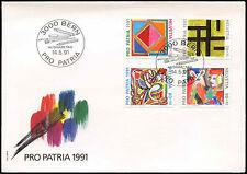 Switzerland 1991 Pro Patria, Modern Art FDC First Day Cover #C20153