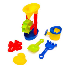 6PCS Beach Toy Playset Sand Water Wheel Watering Can Sand Molds Tools Kids Gift