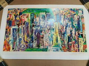 """LeRoy Neiman Large Color Lithograph Pencil Signed """"Central Park New York"""""""