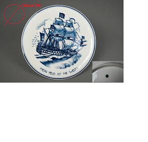 Meissen 35cm Jugendstil Teller Wandteller von Otto Voigt Schiff ship 船  Chuán