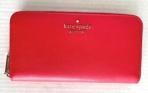 New Kate Spade New York Staci Large continental wallet Digital Red