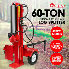 Yukon 60 ton 420CC HYDRAULIC LOG SPLITTER PETROL ENGINE WOOD FIREWOOD CUTTER