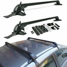 "105CM/41.3"" Lockable Anti Theft Roof Bars Universal Car No Rail Rack Locking Bar"