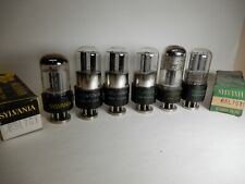 Sylvania Various Style 6Sl7Gt Vacuum Tubes (6) Amplitrex Tested Strong One Lower