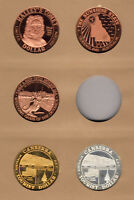 Australia. 1980s TOURIST DOLLARS x 5 diff (1 Silver)  Prooflike in Display page
