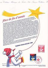Document Philatélique Timbre 1er Jour : 16/11/ 1996 - Croix Rouge Fêtes