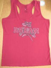 New! LIFE IS GOOD Womens Sleep Tank Ribbed Dream Rose Wild Cherry XXL NWT
