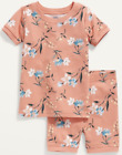 OLD NAVY TODDLER GIRL CORAL FLORAL PAJAMA SET. NEW WITH TAG.