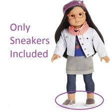 American Girl Doll Z's Meet Outfit Silver Sparkle Sneakers Only NEW!