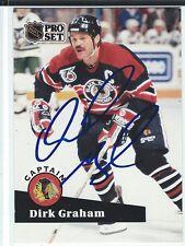 Dirk Graham Signed 1991/92 Pro Set Card #570
