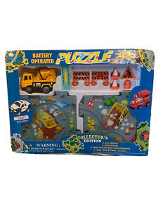 Construction Battery operated puzzle set collectors edition - New