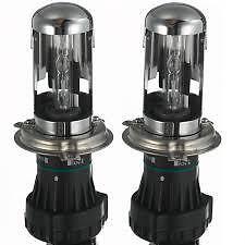 N° 2 BULBI LAMPADE PER KIT XENON XENO  H4-3 RICAMBIO