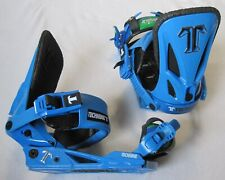 NEW TECHNINE T9 SNOWBOARD BINDINGS - MEDIUM - BLUE