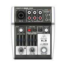 BEHRINGER xenyx 302 USB mixer professionale 5 ingr. 2 canali live karaoke studio
