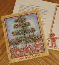 Sherri Buck Baldwin Art - Gingerbread Cookie Recipe 1996 Lang Christmas Card 4ct