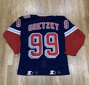 Vintage New York Rangers Wayne Gretzky Signed Starter Jersey 48 BNWT