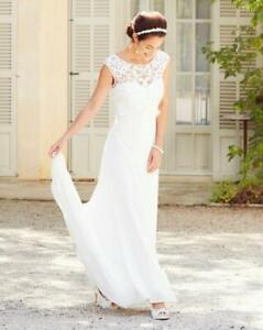 JOANNA HOPE LADIES SEQUIN DETAIL BRIDAL DRESS IVORY SIZE 26 NEW (ref 619)