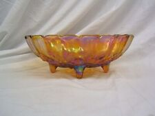 """Indiana Amberina Carnival Glass Footed Fruit Bowl 12"""" Length VGC"""