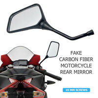 2Pcs 10MM UNIVERSAL MOTORCYCLE MIRRORS BIKE/MOTORBIKE REAR VIEW/SIDE BLACK