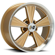 "4-NEW Hurst HT324 Dazzler 15x7 5x4.75"" -5mm Gold/Machined Wheels Rims"