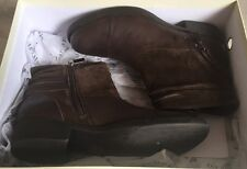 DESTOCKAGE NEUF BOTTINES BOOTS MARQUE ONE STEP CUIR CHOCO @ T 35 @ NEUF 159€ N57