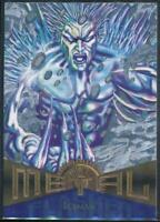 1995 Marvel Metal Silver Flasher Trading Card #96 Iceman